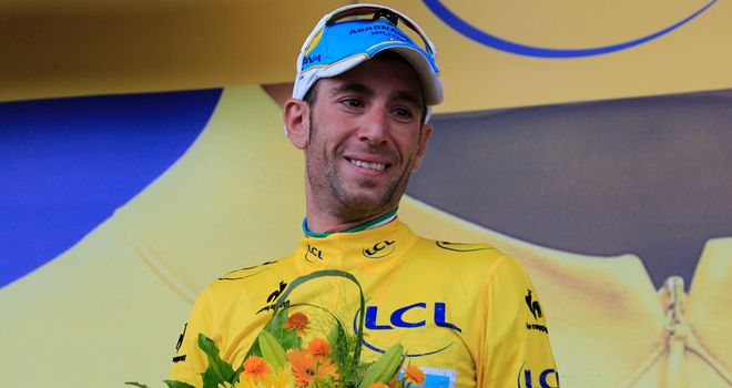Vincenzo Nibali has claimed the yellow jersey for the first time in his career