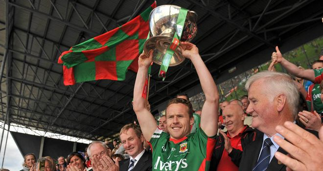 Mayo captain Andy Moran lifts the Nestor Cup