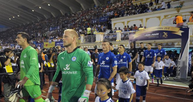 Test: Leicester travelled to Thailand to take on Everton as part of their pre-season preparations