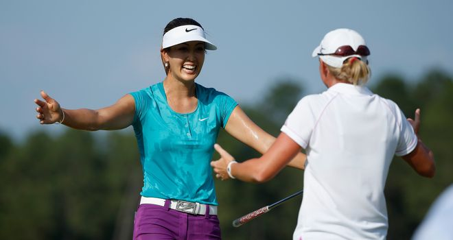 British Open rivals Michelle Wie and Stacy Lewis