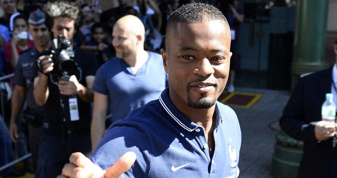 Patrice Evra: Had made choice to switch to Italy
