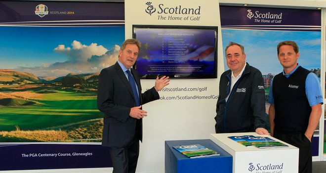 First Minister Alex Salmond and Sky Sports Lead Golf Presenter David Livingstone launch the competition