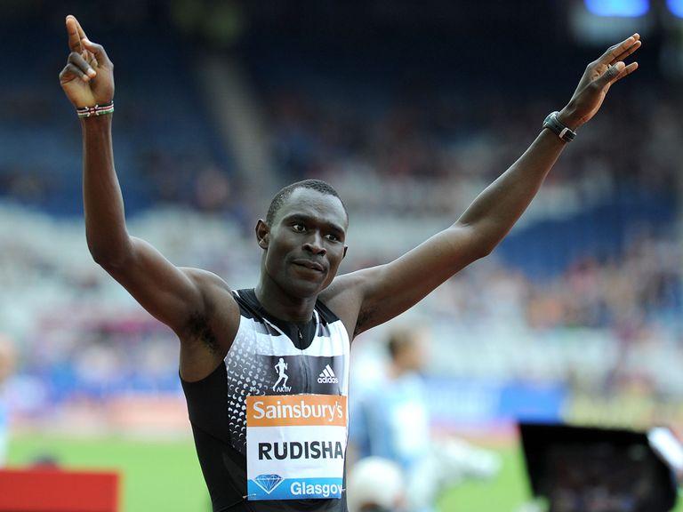 David Rudisha celebrates his victory