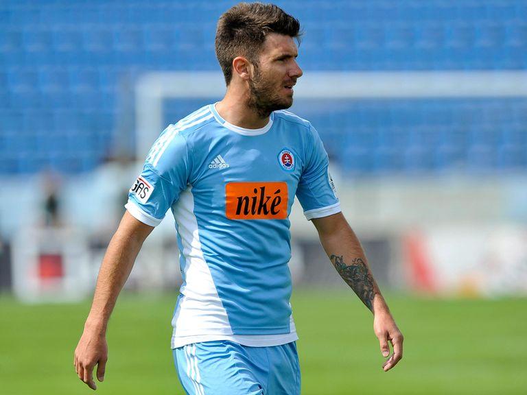 Marko Milinkovic scored twice for Slovan Bratislava