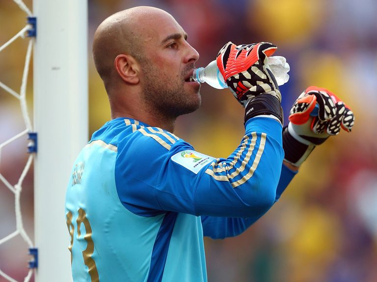 Reina: Currently back training with Liverpool