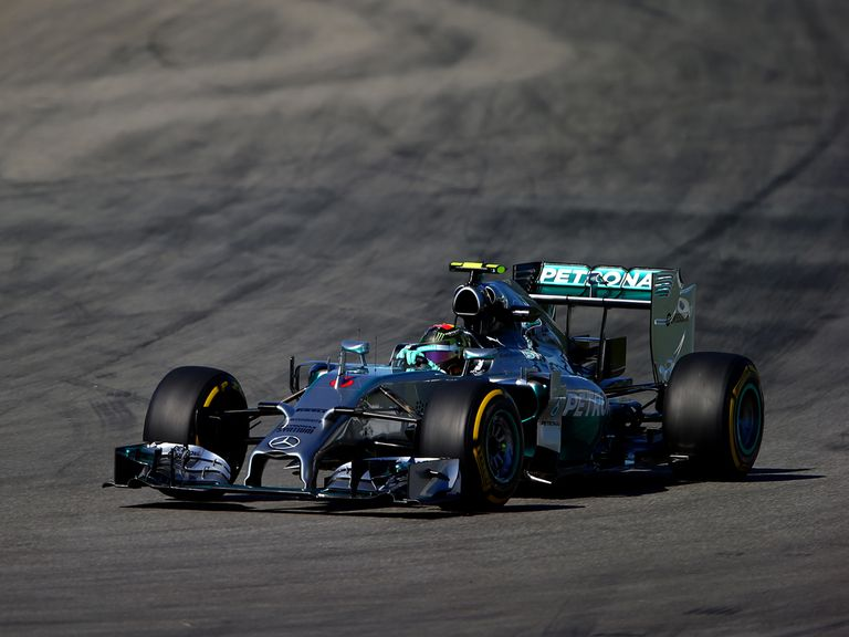 Nico Rosberg during practice ahead of the German Grand Prix at Hockenheimring