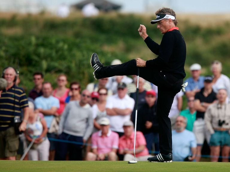 Bernhard Langer: Completed an incredible 13-stroke victory at Royal Porthcawl