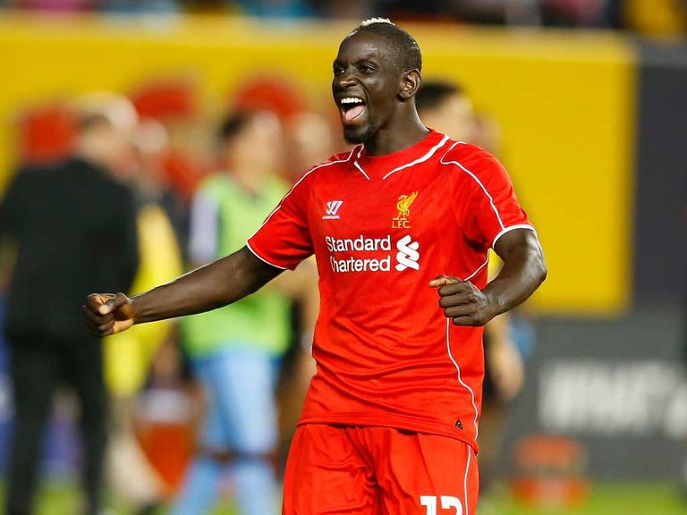 Mamadou Sakho celebrates Liverpool's victory