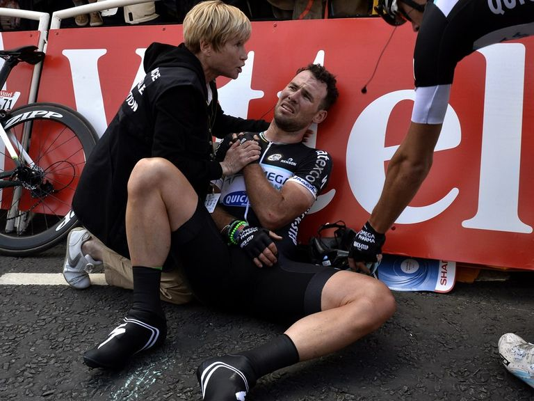 Mark Cavendish suffered a nasty crash in the Tour de France