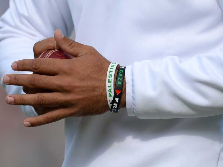 Moeen Ali's wristbands