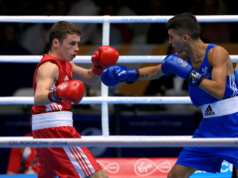 Reece McFadden (left) in action against Andrew Selby