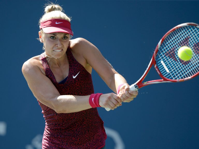 Sabine Lisicki: Slammed down a serve at 131mph during her loss