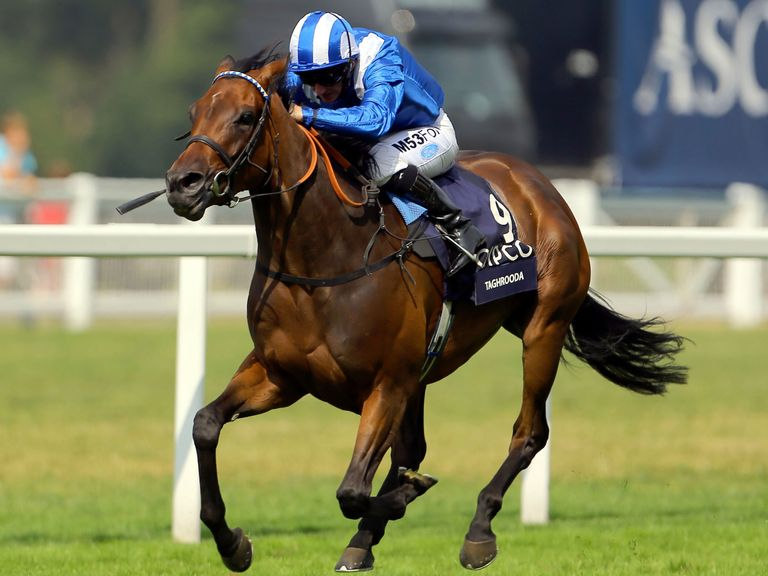 Taghrooda winning the King George VI and Queen Elizabeth Stakes
