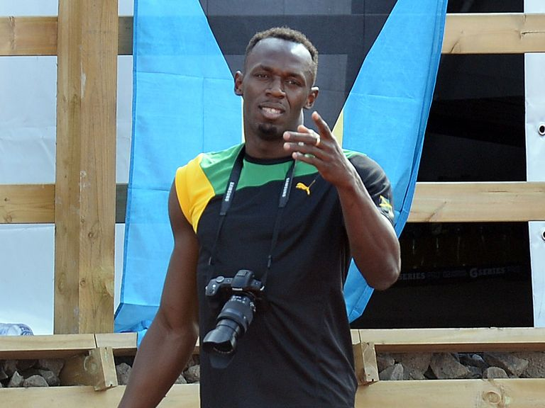 Jamaica's Usain Bolt will take to the track on Friday night