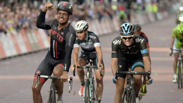 Adam Blythe: Edged out Ben Swift in a thrilling finish