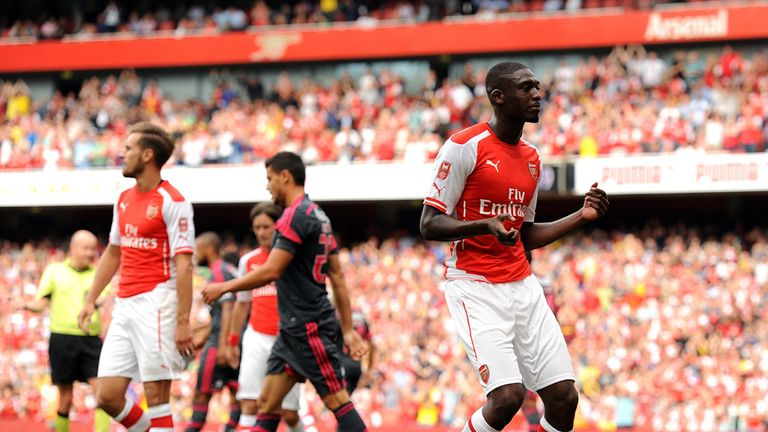 Sanogo: Celebrates at the Emirates
