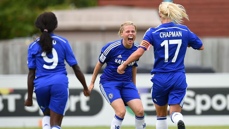 Gilly Flaherty: Celebrates goal against Birmingham