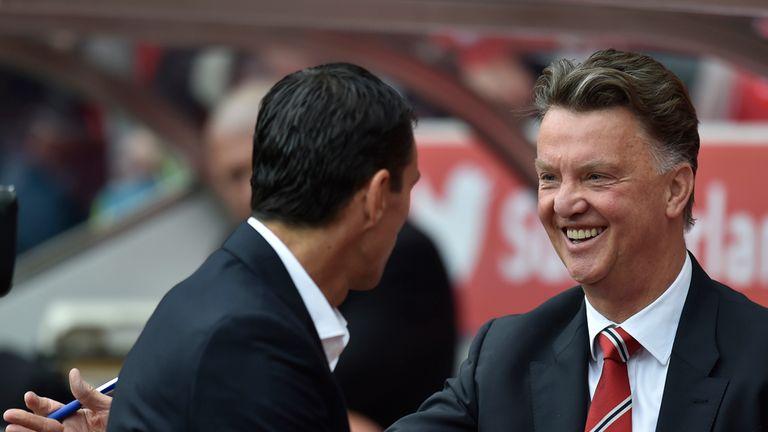 Louis van Gaal: Greets Sunderland boss Poyet