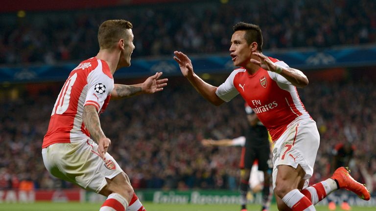 Alexis Sanchez: off the mark in Arsenal colours