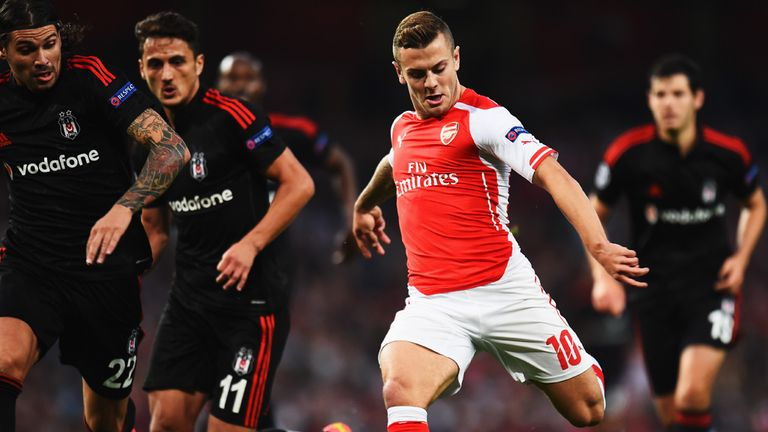 Wilshere: was given a chance to shine in the absence of Ramsey