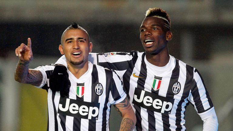 Arturo Vidal and Paul Pogba: Juventus team-mates
