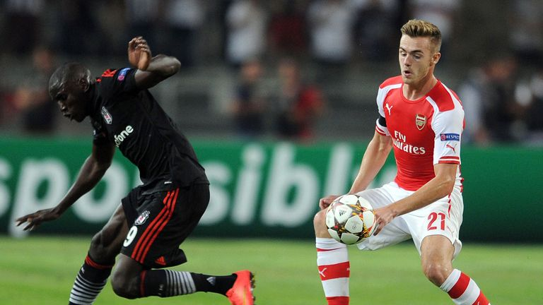 Calum Chambers faced a tough test against Demba Ba but came through it well