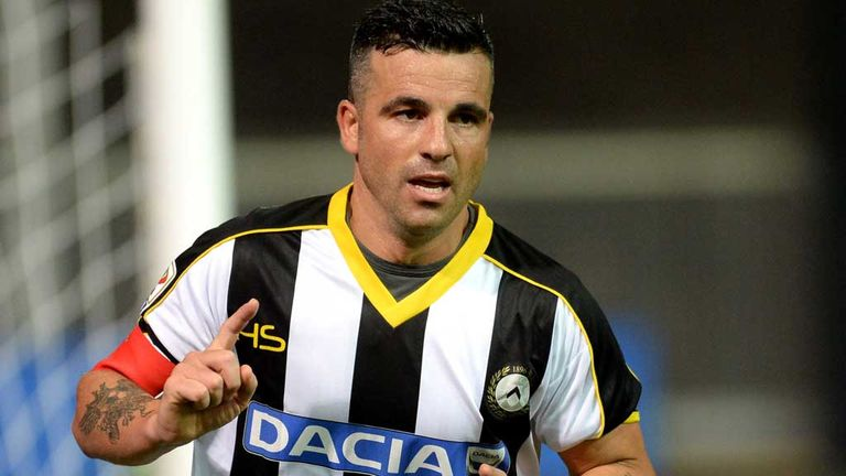 Antonio Di Natale was the goal hero for Udinese