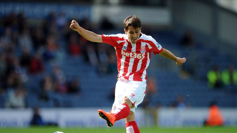 Bojan Krkic of Stoke City scores the equaliser during the pre-season friendly match between Blackburn Rovers and Stoke City.