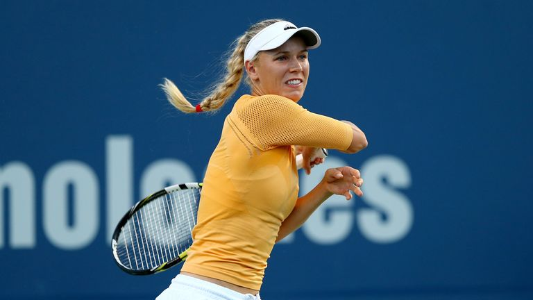 Caroline Wozniacki needed three sets to beat Timea Bacsinszky