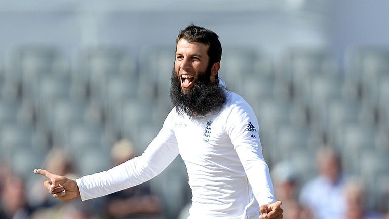 England's Moeen Ali: Took four wickets as India were blown away