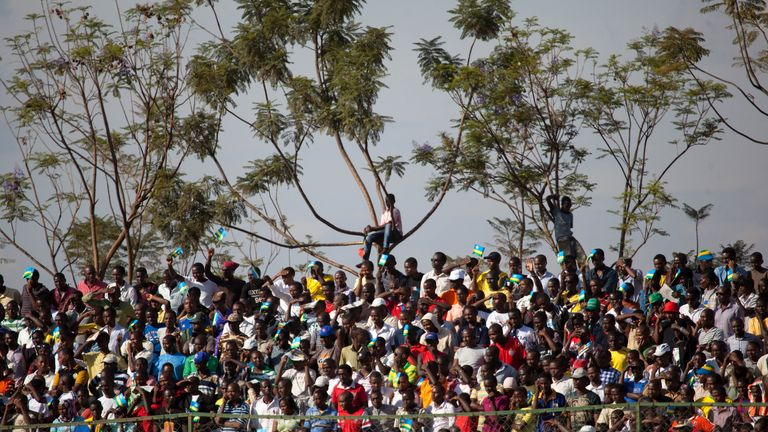 Fans have turned out in their numbers to watch Rwanda