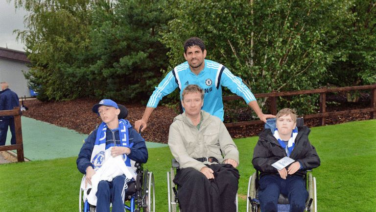 Diego Costa: With fans at Chelsea Community Day