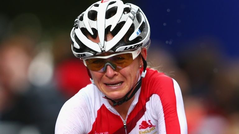 The retiring Emma Pooley crossed the finish line in tears