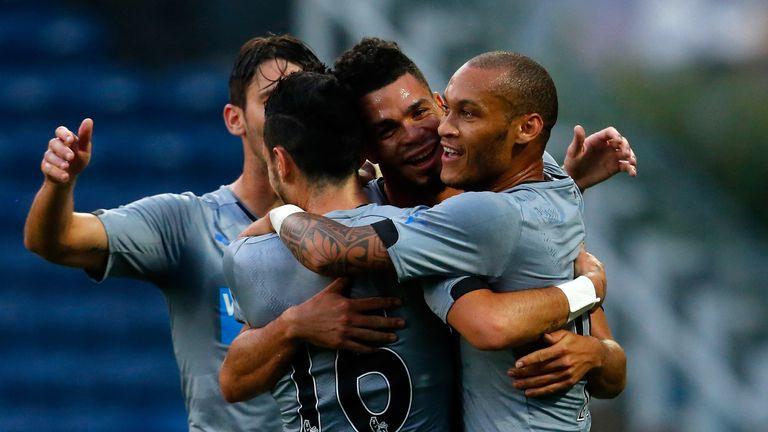 Emmanuel Riviere: Celebrates his goal