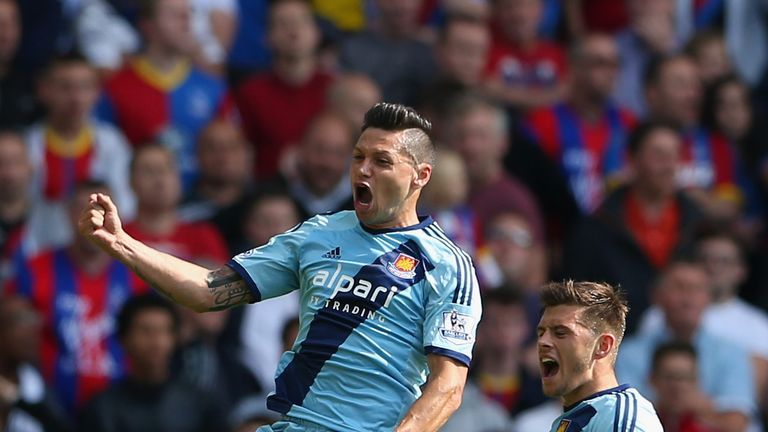 Mauro Zarate scored a fine goal at Selhurst Park on Saturday