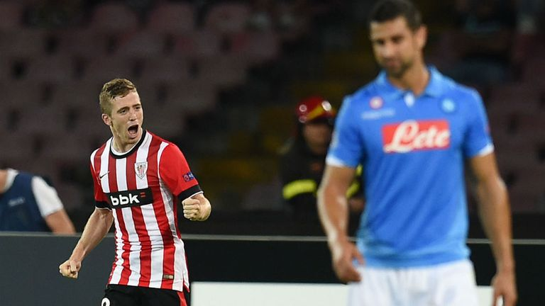 Iker Muniain: On target as Athletic Bilbao held Napoli in Italy