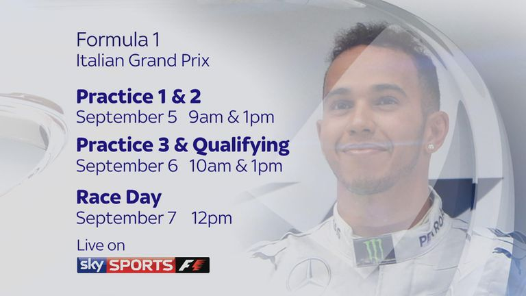 Don't miss the Italian GP on Sky Sports F1