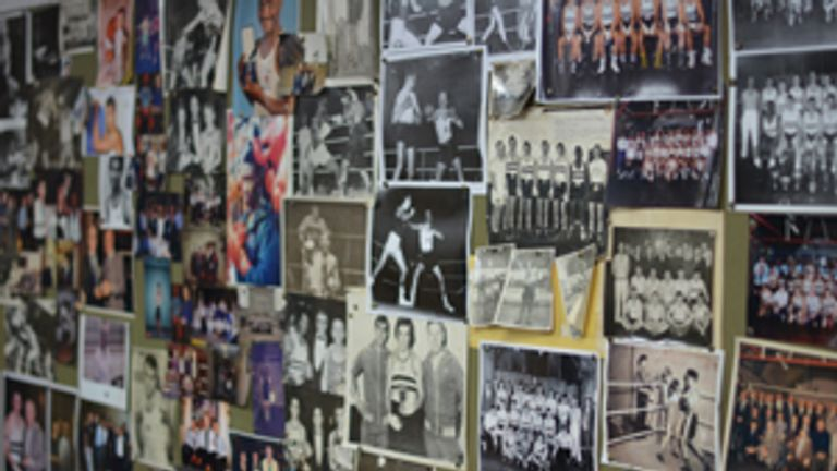 The wall of fame: the fighters that have come through these famous dooros down the years