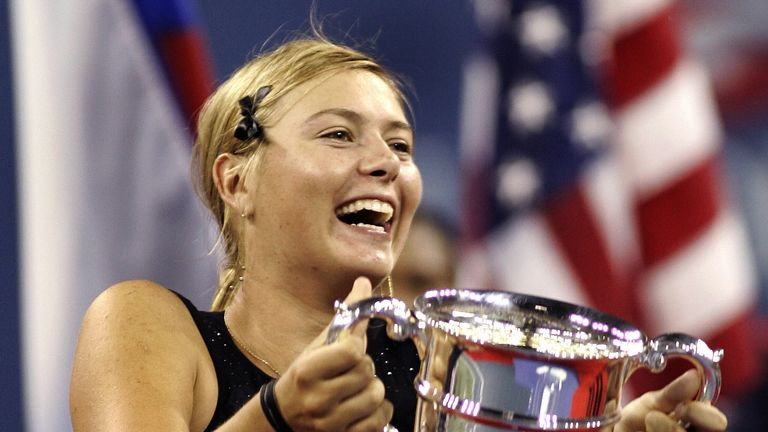 Maria Sharapova won her only US Open to date in 2006, beating Justine Henin in the final