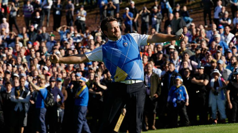 Graeme McDowell was Europe's hero down the stretch at Celtic Manor