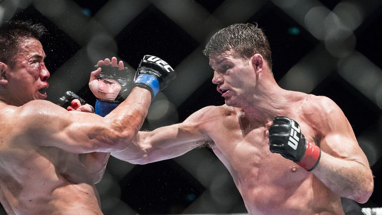 Michael Bisping (R): Proved too strong for Cung Le to handle