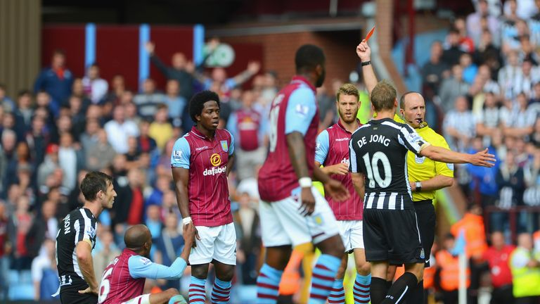 Mike Williamson: Shown red card by referee Mike Dean