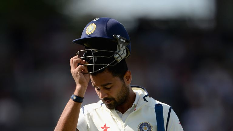 Murali Vijay of India was dismissed early on during the fourth Test