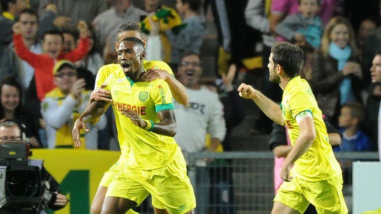Nantes' Togolese forward Serge Gakpe celebrates