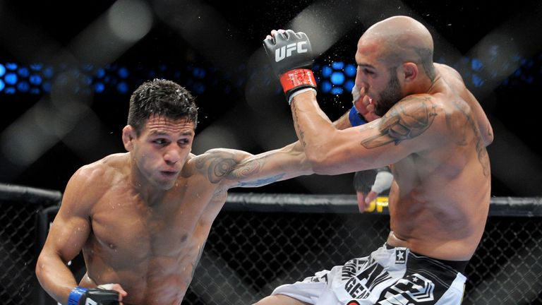 Rafael dos Anjos: now in the mix for a UFC lightweight title shot