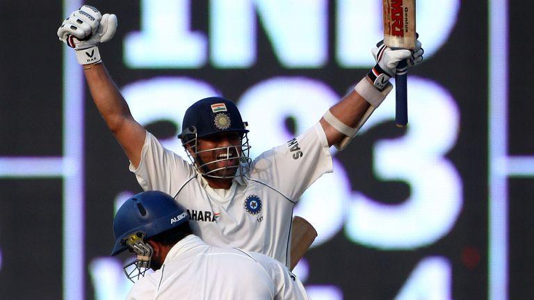 Yuvraj Singh lifts a jubilant Sachin Tendulkar