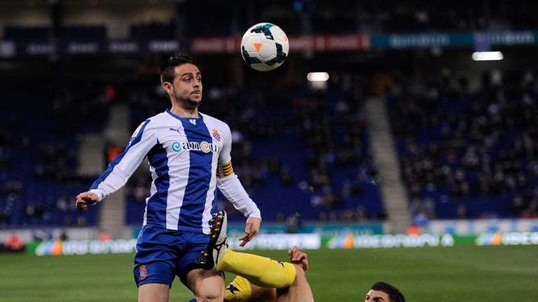 Sergio Garcia (l) grabbed a late, late equaliser for Espanyol