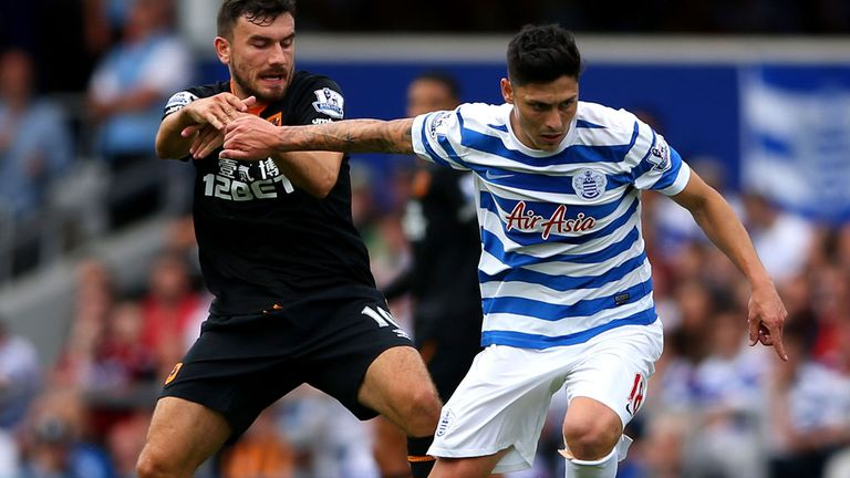 Robert Snodgrass in action at QPR before suffering knee injury