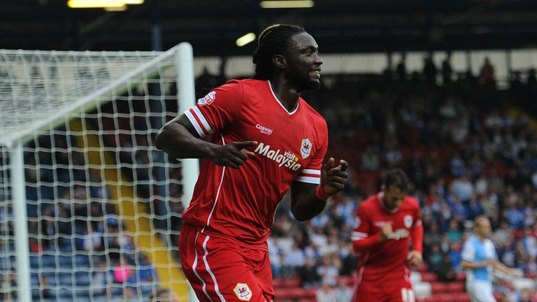 Kenwyne Jones: On target for Cardiff at Craven Cottage