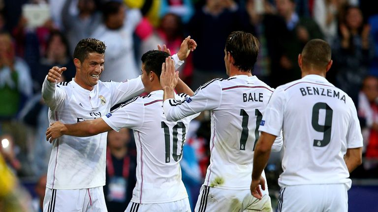 Where does James Rodriguez fit in with Real Madrid  teammates Cristiano Ronaldo, Gareth Bale and Karim Benzema
